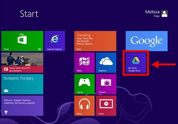 Integrate Google Apps to Windows8-app-on-start-screen