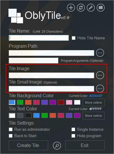 Choosing tile image