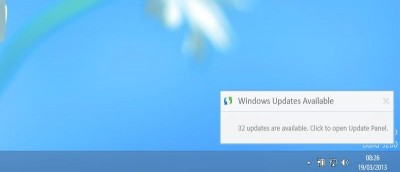 How to Get Desktop Update Notifications in Windows 8