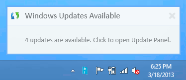 Windows Update Notifier notifications