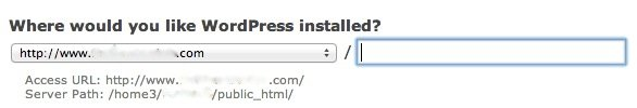 cpanel-wordpress-installed-location