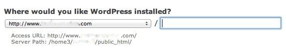 cpanel-wordpress-installed-location
