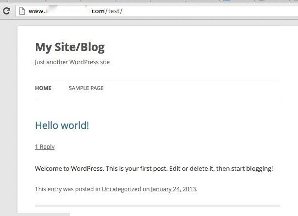 cpanel-wordpress-website