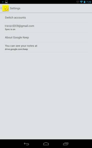 google-keep-settings