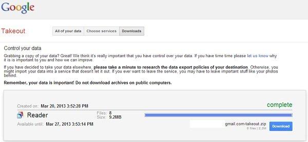 google-reader-export-data