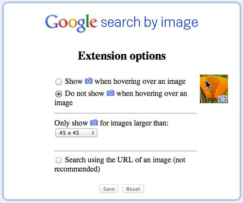 Search by Image Chrome extension