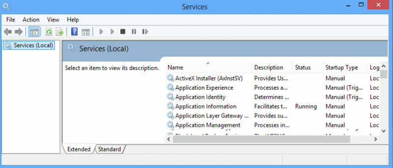 How To Manage The Windows Services In Windows 8