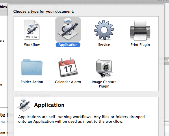 automator-choose-application