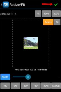 How to optimize photos as the wallpaper for android phone android wallpaper app photo editor resized green tick voltagebd Gallery