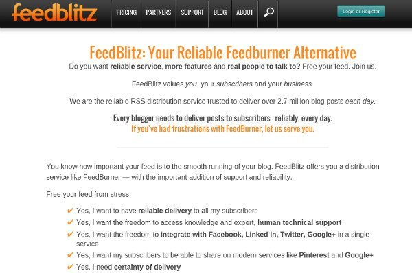 Feedburner Alternatives