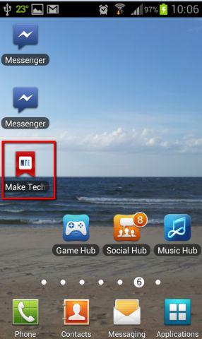 Add MTE to homescreen