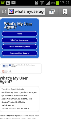 What is my user agent?