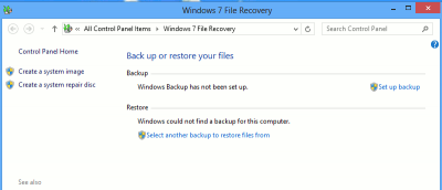 How to Set Up Windows Backup in Windows 8 to Save Your Files and Folders