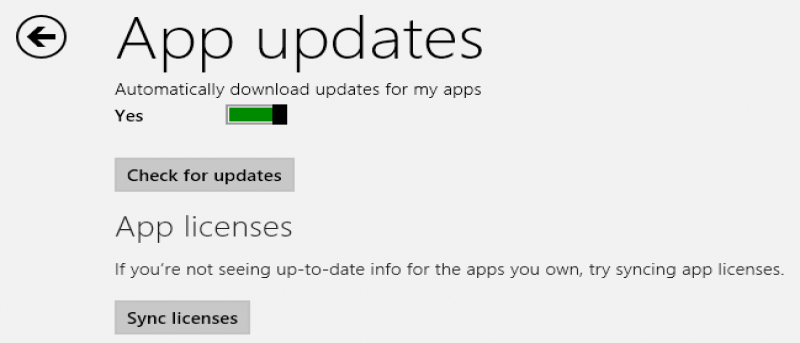 How to Force Sync App Licenses in Windows 8