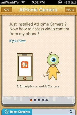athome-streamer-welcome-screen
