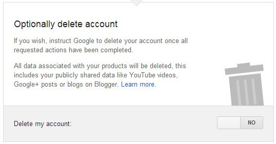 If you wish, instruct Google to delete your account once all requested actions have been completed.