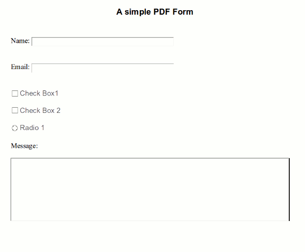 how to add form fields to existing pdf