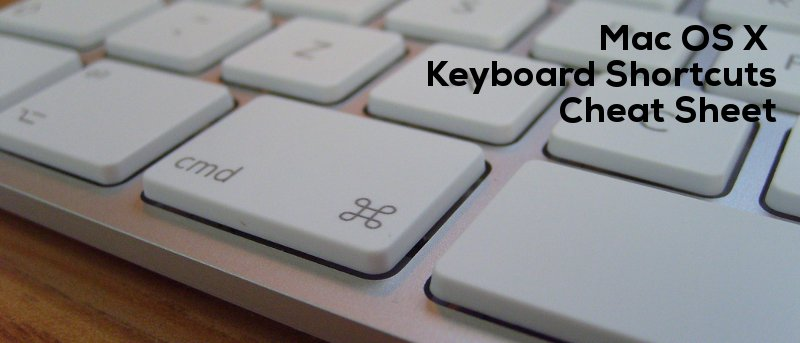 Mac OS X Keyboard Shortcut CheatSheet + Download