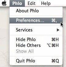 Go to Phlo's preferences.