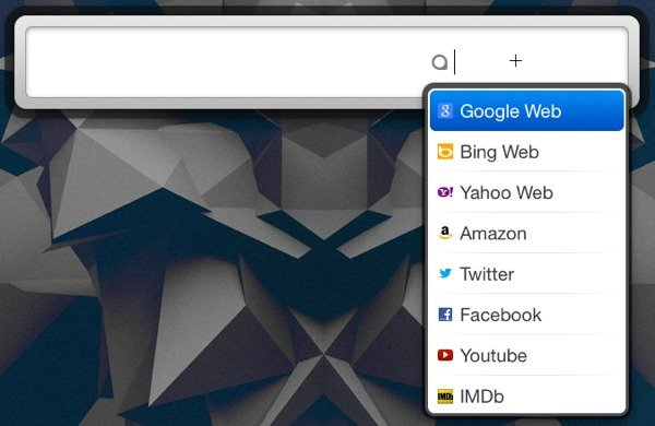 You can change the search engine or website with ease.