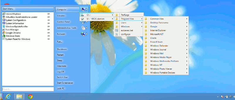 Adding A Powerful Start Menu in Windows 8