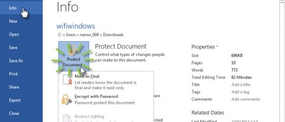 3 Ways to Protect Your Document in Microsoft Word 2013