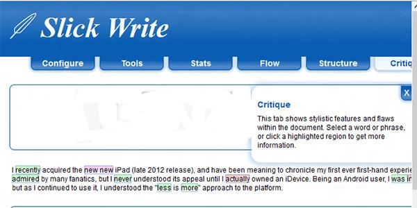 slickwrite-critique