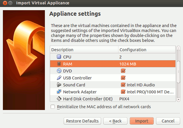 virtualbox-appliance-configuration