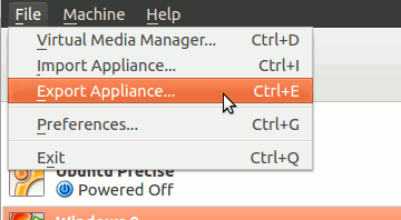virtualbox-export-appliance