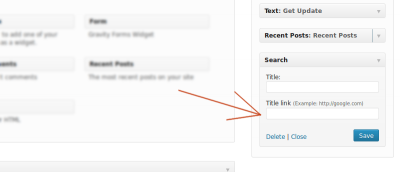 How to Add Links to Your WordPress Widget Titles