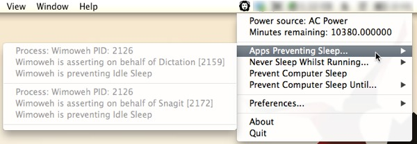 See the apps that are preventing your Mac from sleeping.