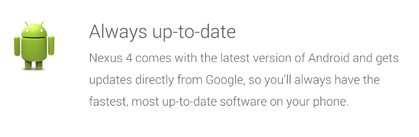 Android Nexus Updates