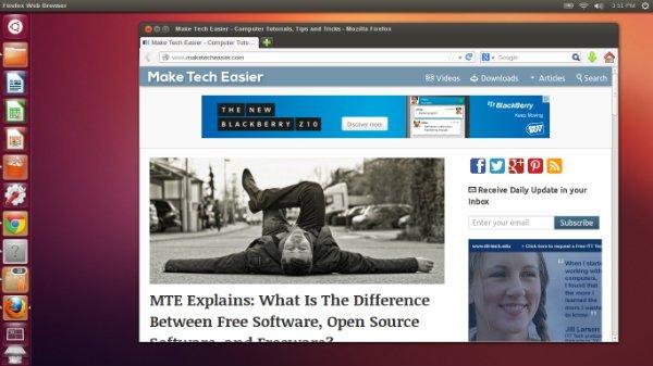 Mozilla Firefox Ubuntu Web Browser Comparison