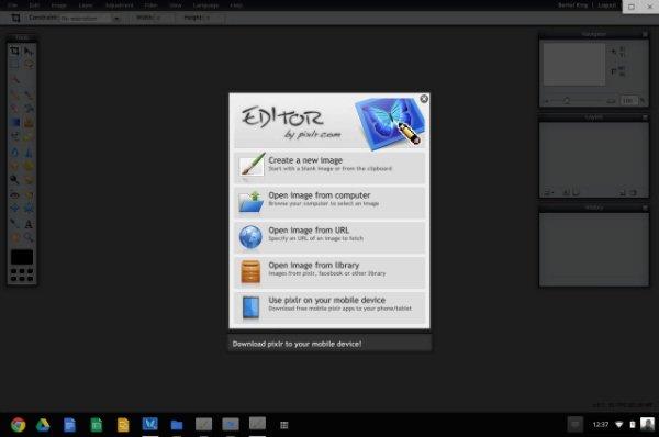 Chromebook image editor