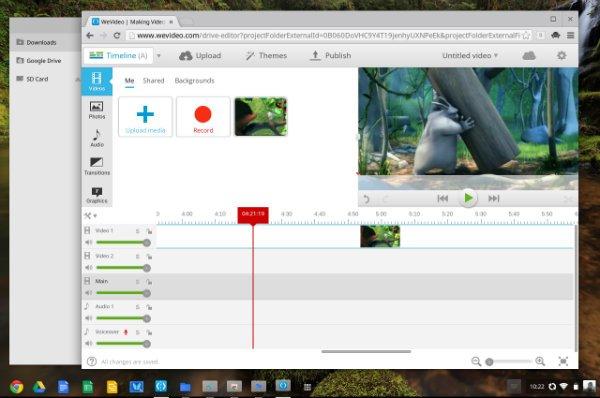 Chromebook WeVideo