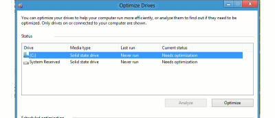 How to Optimize Drives in Windows 8 to Improve Performance