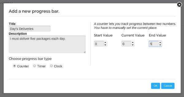 Progress Bar Timer Counter Prompt