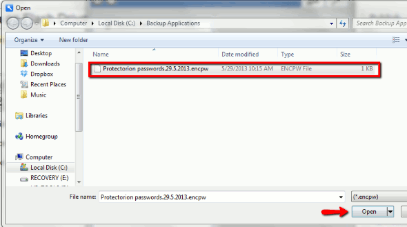 Protectorion-To-Go-Restore-Backup-Select-File