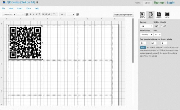 Printable QR Codes Page