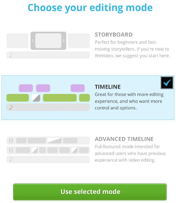 WeVideo Timeline