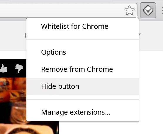 Hide Whitelist for Chrome Button