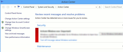 Making Effective Use of Windows Action Center