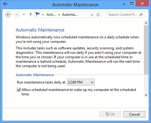 Windows Action Center - automatic_maintenance