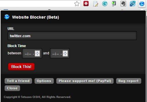 block websites in chrome - Website blocker