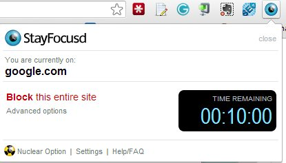 Stayfocusd For Google Chrome