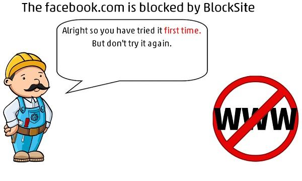 Blocksite Warning Message