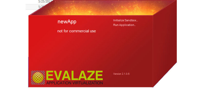 Using Evalaze to Virtualize Windows Applications