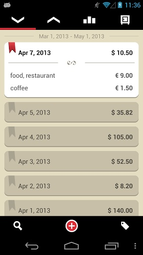 Expense Tracking Apps - Toshl