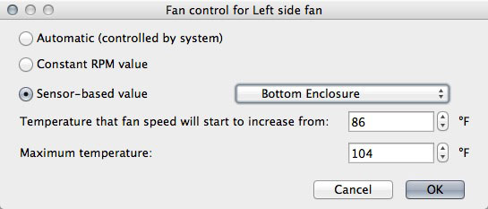 You can custom the fan control options for all of your fans.