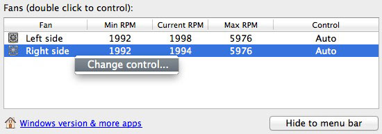 You can change the control of your Mac's fans.